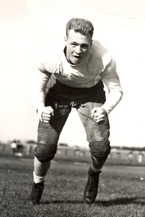 Harvey G. Foster may be the best-known Secret Service agent to graduate from Notre Dame. Foster, a South Bend native, played offensive guard for the Irish in 1936-37. He received his degree from Notre Dame in 1939 and became president of the Notre Dame Alumni Association after graduation.