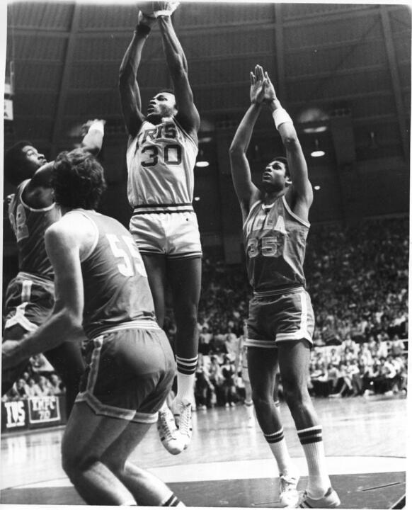 Tracy Jackson played in 114 games during his career in an Irish uniform and scored 1,293 career points for an 11.3 career scoring average.