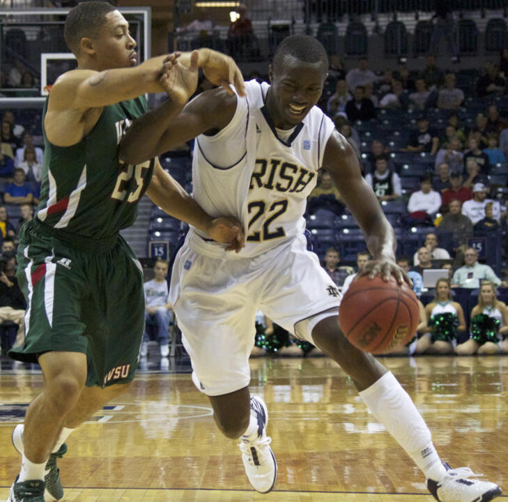 Sophomore Jerian Grant scored 11 points in his Fighting Irish debut on Saturday against Mississippi Valley State.