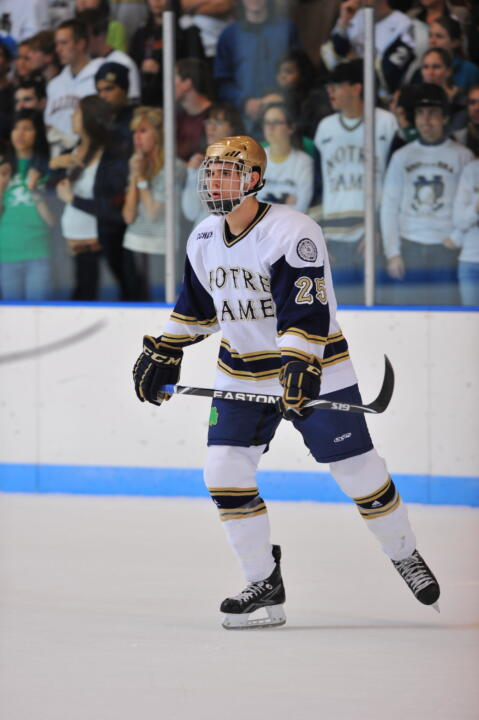 Sophomore defenseman Kevin Lind and the Irish get set to take on third-ranked Boston College on Friday night.