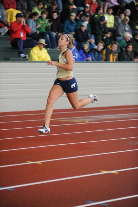 Senior Maddie Buttinger opens up her indoor campaign on Friday.