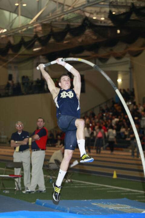 Senior Kevin Schipper placed second in the pole vault on Friday.