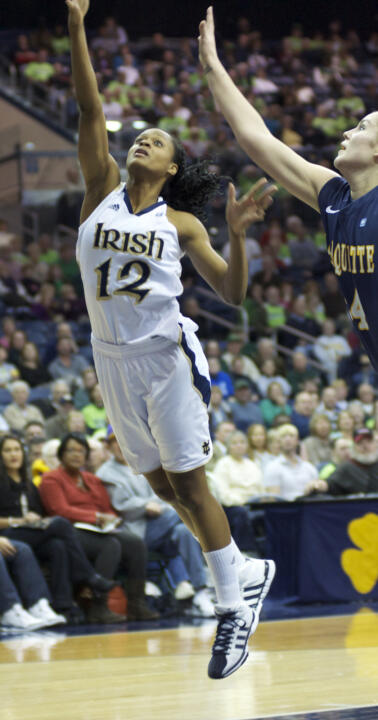 Senior guard (and Atlanta native) Fraderica Miller leads Notre Dame back to her home state as the Fighting Irish visit Mercer Friday night.