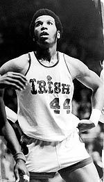 One of the greatest players to don an Irish uniform, Adrian Dantley was the national player of the year in 1976.