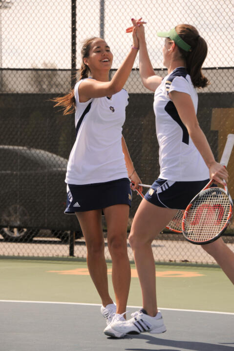 Kristy Frilling and Shannon Mathews lead the 20th ranked Irish into the 2012 season as the fifth-best duo in the nation.