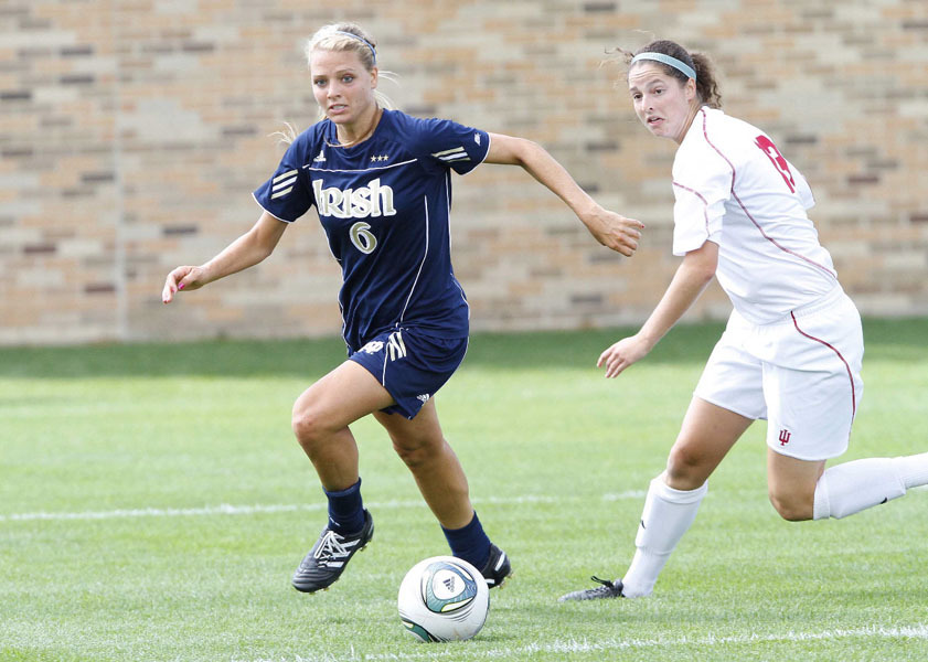 Notre Dame two-time All-America senior forward Melissa Henderson was chosen No. 2 overall by New Jersey-based Sky Blue FC in the 2012 Women's Professional Soccer (WPS) College Draft on Friday afternoon in Kansas City.