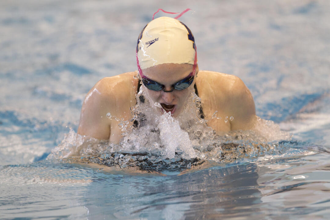 Sophomore Christen McDonough won the 100 breaststroke on Saturday.