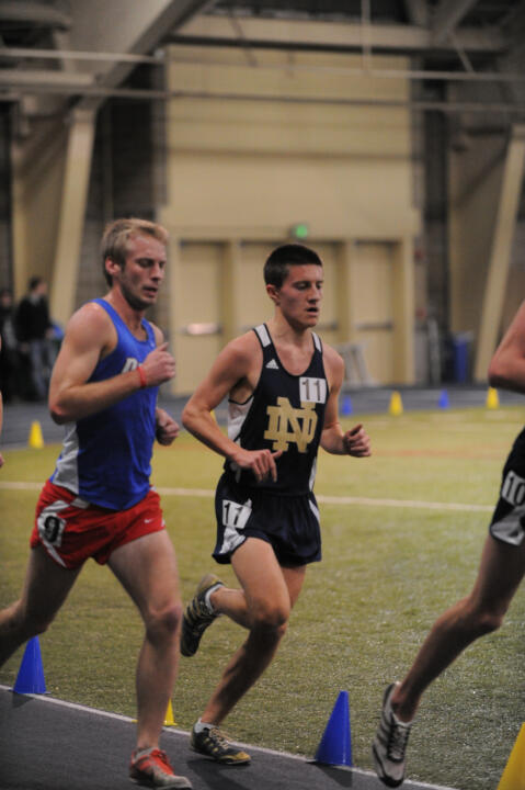 Jeff MacMillan finished second in the 3,000m run.