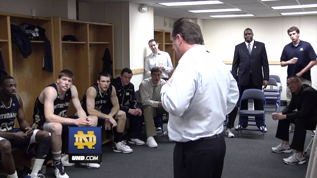 Mike Brey - Locker Room Celebration - at Connecticut, Jan. 29, 2012