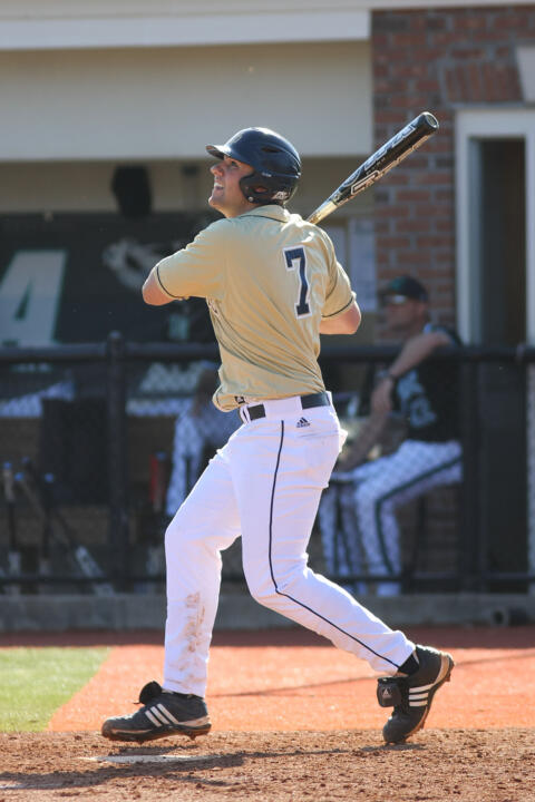 Sophomore LF Eric Jagielo drilled a three-run home run in the nightcap.