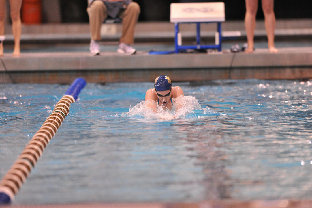 Sophomore Mikelle Masciantonio set a new season-best in the 200 IM.