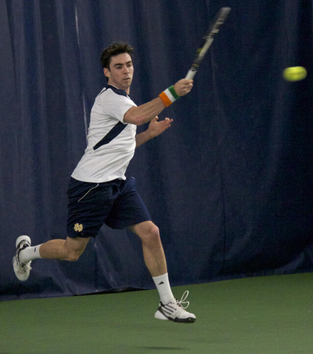 Senior Niall Fitzgerald won in straight sets at No. 6 singles.