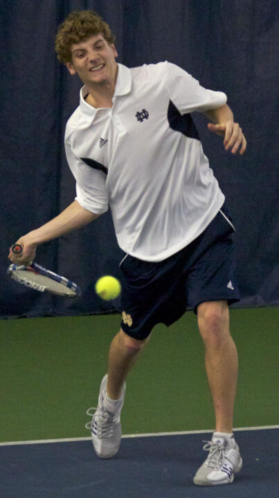 Freshman Wyatt McCoy won 6-3, 6-0 at No. 5 singles against IUPUI.