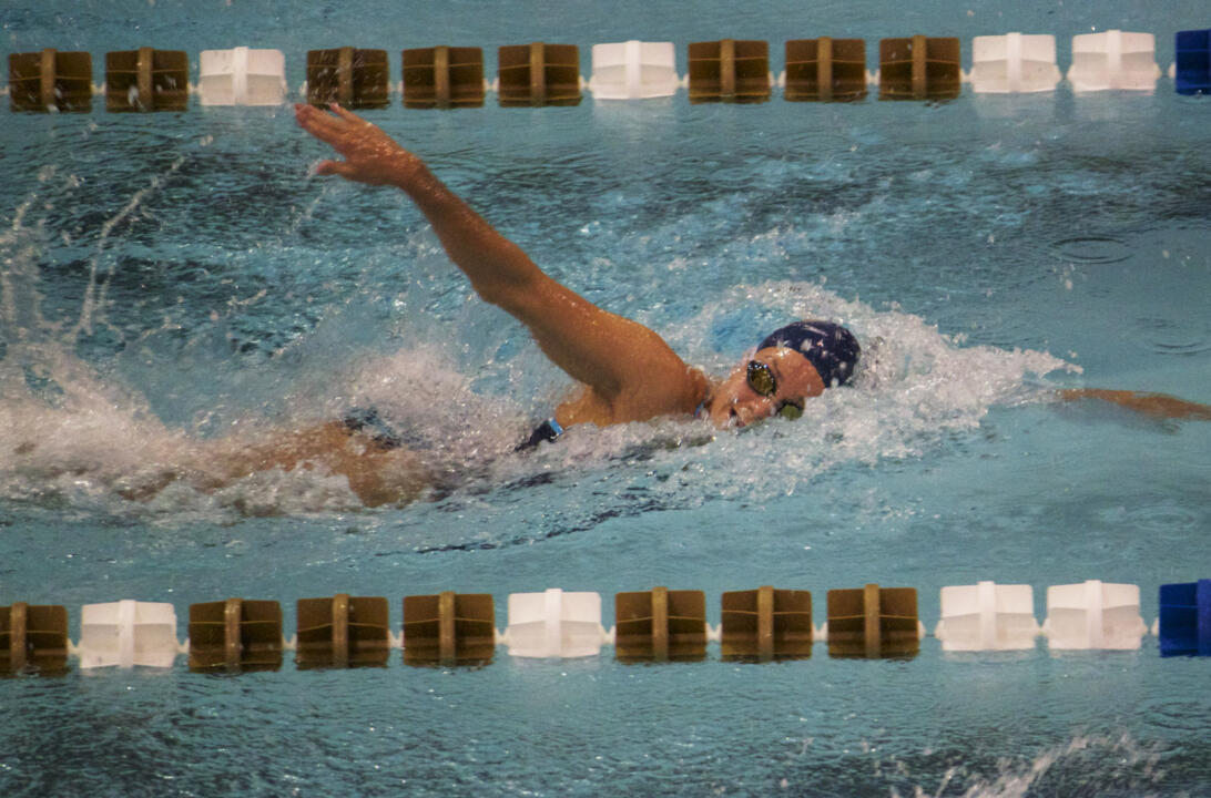 Freshman Suzanne Bessire qualified for the finals in the 100 free on Saturday morning.