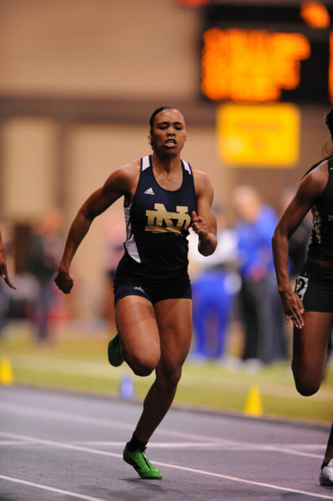 Sophomore Aijah Urssery won the 60m dash on Saturday.