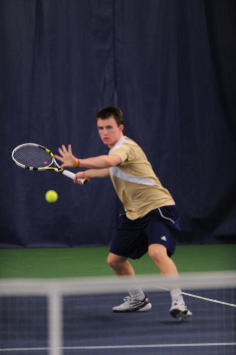 Sophomore Greg Andrews won two singles and two doubles matches on Sunday.