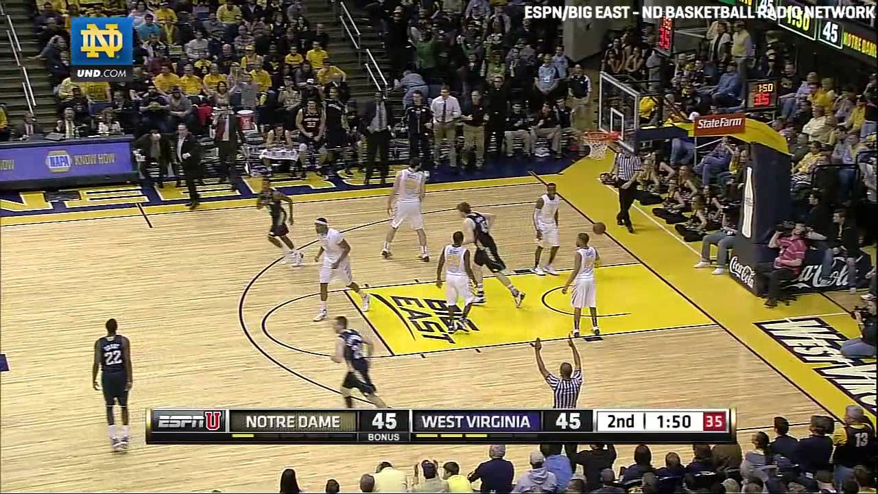 Notre Dame Basketball vs. West Virginia Highlights - Feb. 8, 2012