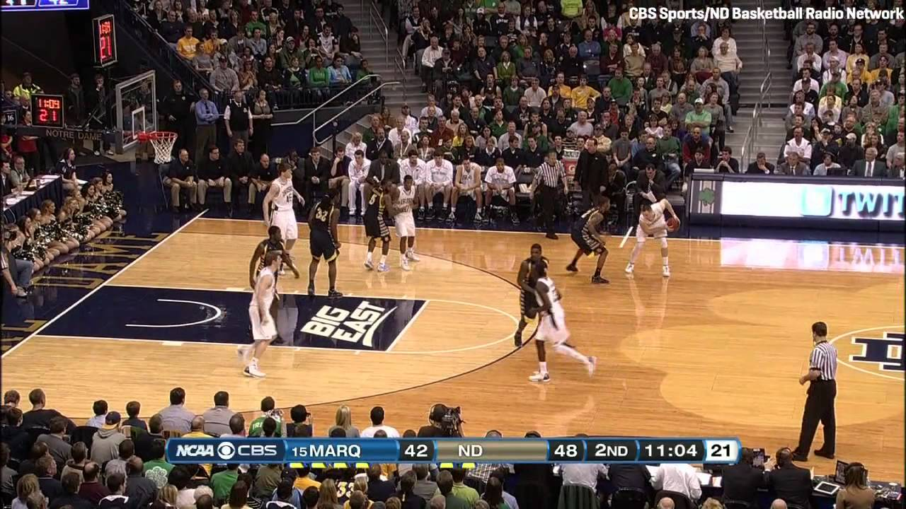 Notre Dame Basketball vs. Marquette Highlights - Feb. 4, 2012