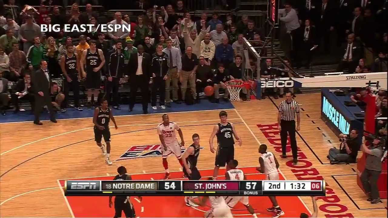 Notre Dame Men's Basketball - St. John's Highlights - Feb. 25, 2012