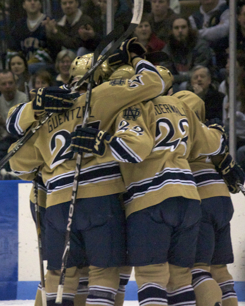 The Notre Dame hockey team will celebrate its Senior Class at the Annual Awards Program on Sunday, April 1.