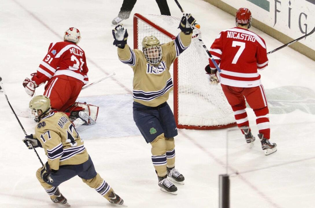 Sophomore left wing Anders Lee announced on Tuesday that he will return to Notre Dame for his junior year.