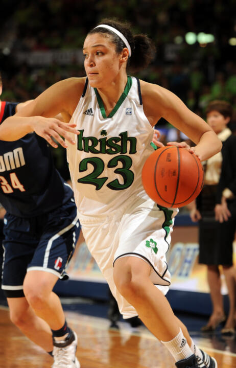 Sophomore guard Kayla McBride scored a team-high 15 points in Notre Dame's NCAA Championship first-round win over Liberty on Sunday afternoon at Purcell Pavilion.