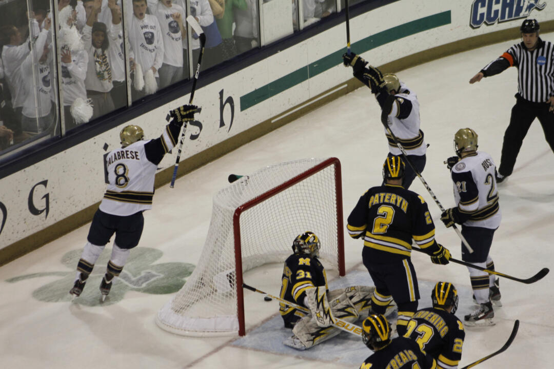 Notre Dame travels to Michigan for the second round of the CCHA playoffs March 9-11l