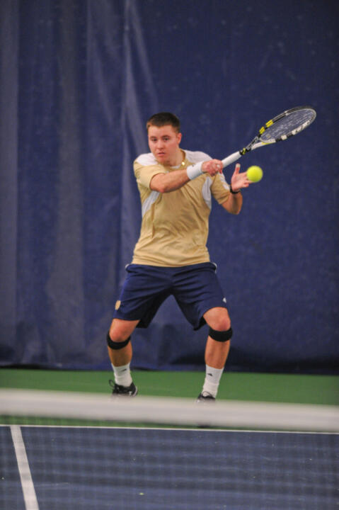 Sophomore Billy Pecor knocked off No. 44 Devin McCarthy at No. 4 singles.