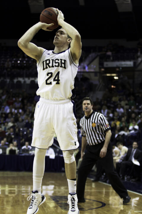 Freshman Pat Connaughton matched a career-high total with 11 rebounds on Monday at Georgetown.