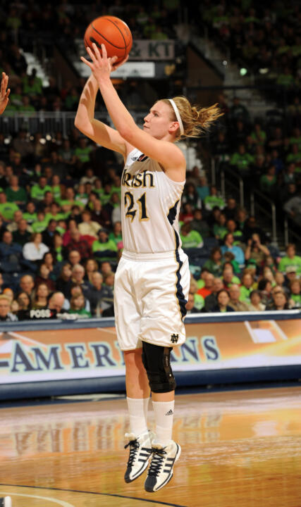 Senior guard/tri-captain Natalie Novosel scored a game-high 28 points (including an NCAA tournament record 18-of-20 from the free throw line) in Notre Dame's 73-62 second-round win over California on Tuesday night at Purcell Pavilion.