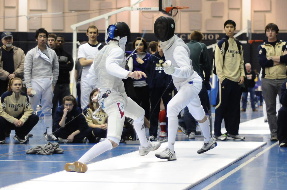 Enzo Castellani, men's foil individual champion, clinched the foil team win with his victory over Ohio State's Rhys Douglas.