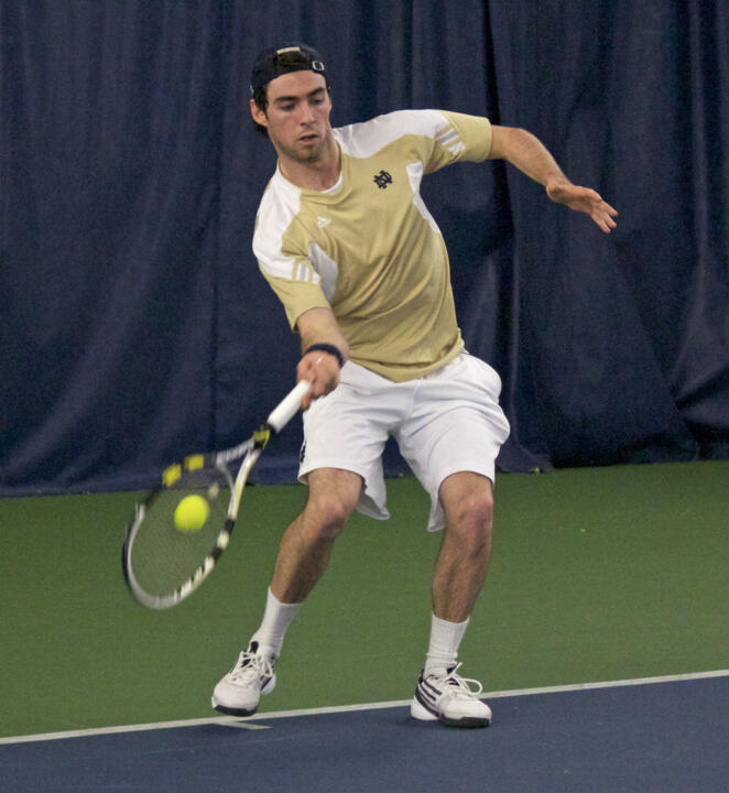 Senior Niall Fitzgerald won at No. 5 singles on Saturday against USF.