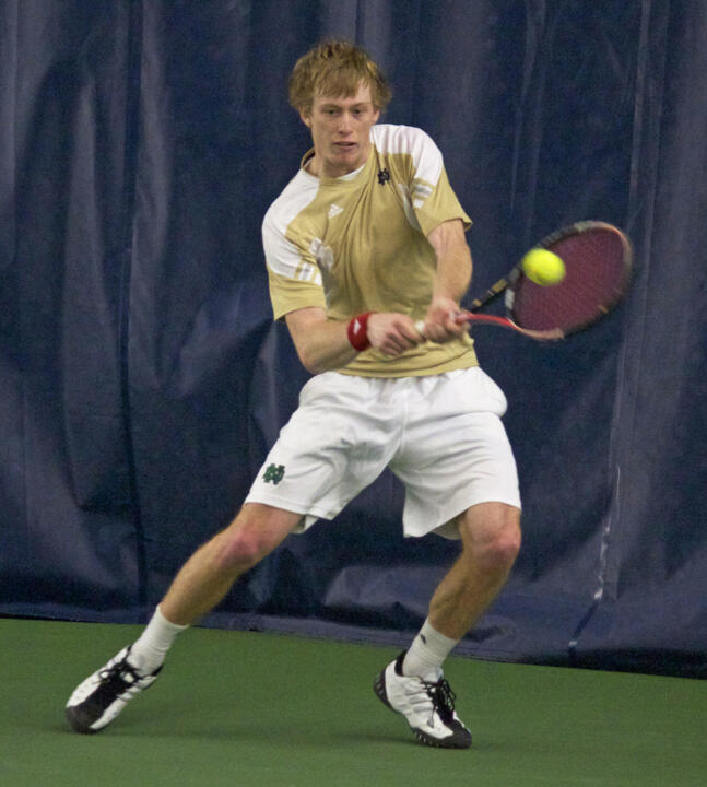 Senior Casey Watt clinched the match at No. 1 singles on Sunday.