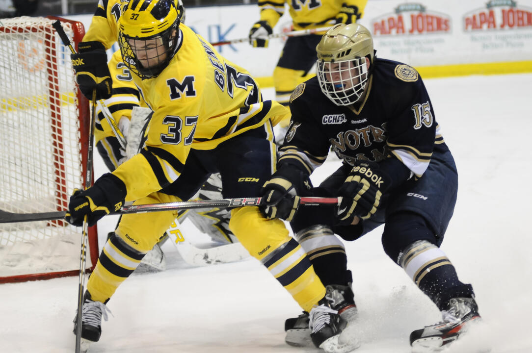 Freshman Peter Schneider scored Notre Dame's only goal in the 3-1 playoff loss to Michigan.
