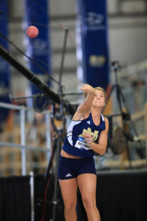 Senior Maddie Buttinger finished third in the pentathlon at the NCAAs on Saturday.