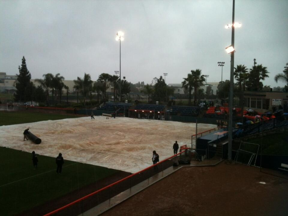 Saturday's contest against Arizona State was cancelled because of severe rain.