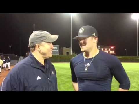 Notre Dame Baseball - Pittsburgh Post Game Interview