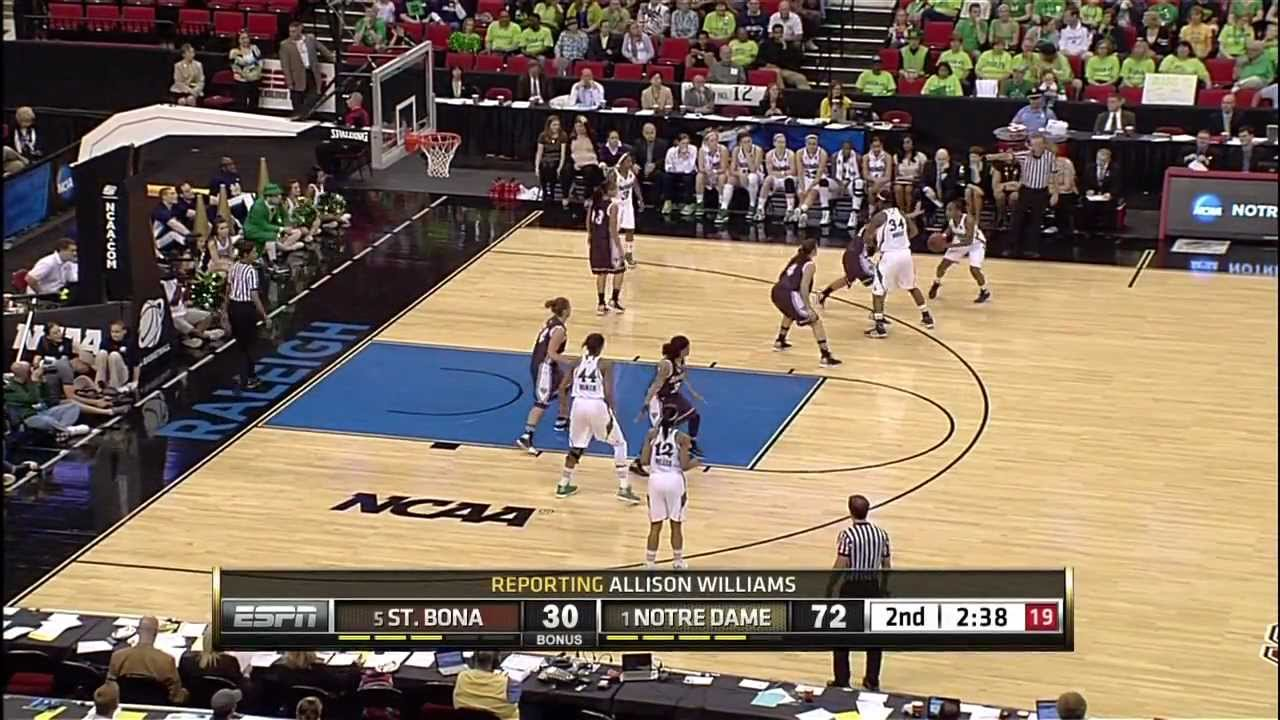 Notre Dame Women's Basketball - Sweet 16 Highlights - March 26, 2012