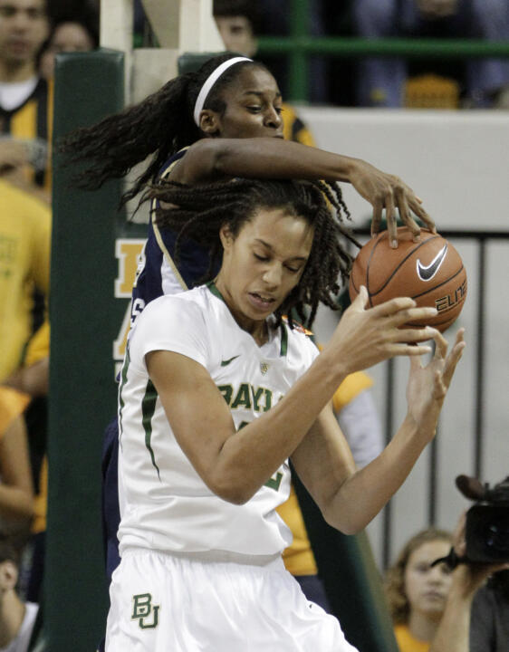 Devereaux Peters and Baylor's Brittney Griner in the regular-season meeting