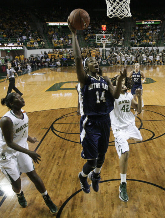 Devereaux Peters in the regular-season meeting with Baylor