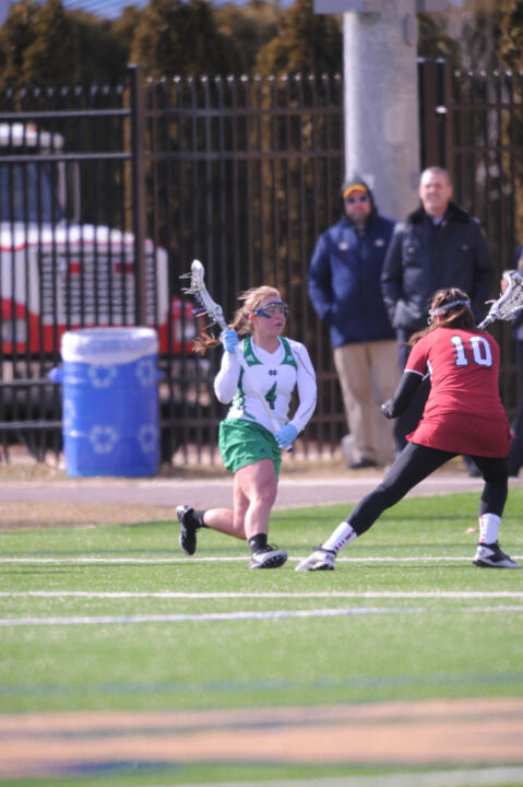Sophomore Kaitlyn Brosco had a pair of goals in Notre Dame's 16-10 loss to Syracuse on Thursday night.