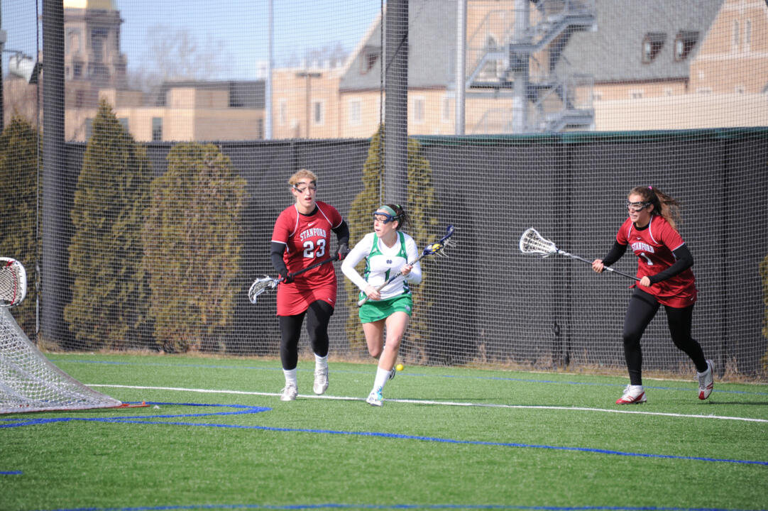 Senior Maggie Tamasitis dished out five assists and scored a goal in Sunday's 17-11 loss to No. 15 Loyola.