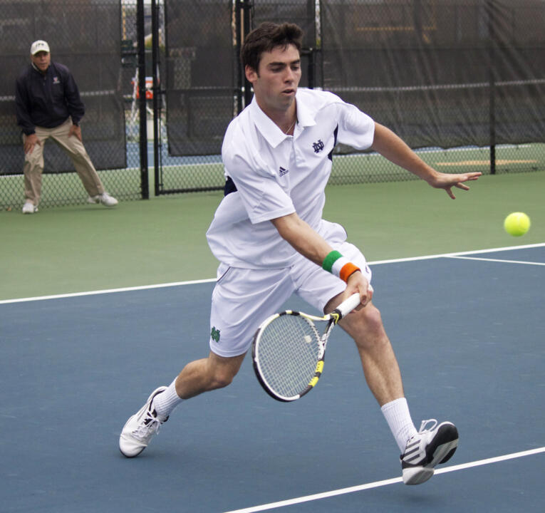 Senior Niall Fitzgerald closed out his last regular season match in style with a straight-set win at five singles.