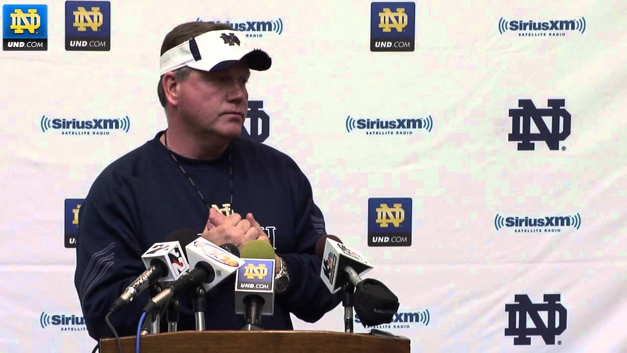 Notre Dame Football - Brian Kelly Post Practice Media Session - April 18, 2012