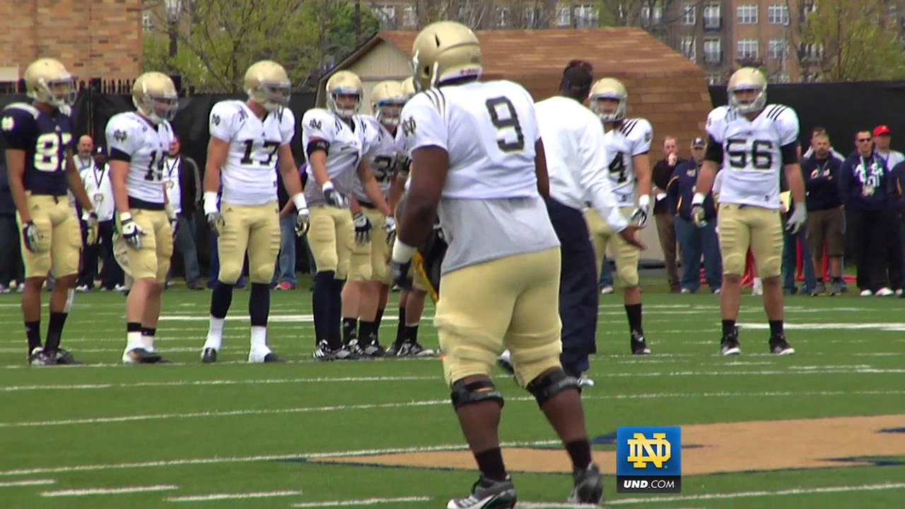 Notre Dame Football - Practice Highlights - April 14, 2012