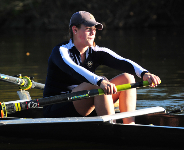 Erin McConnell and the varsity eight boat earned BIG EAST Boat of the Week honors, the fourth consecutive award for Notre Dame rowing.