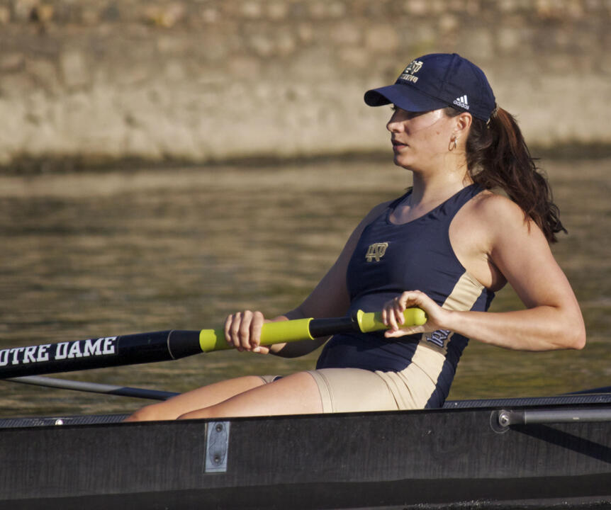 Katie Suyo and the rest of the Irish varsity four earned a spot in the semifinals of the 2012 NCAA Championships