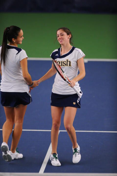 Shannon Mathews and Kristy Frilling enter the NCAA Doubles Championship draw as the No. 5-8 seed.