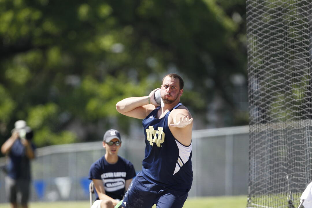 Andrew Brock earned all-BIG EAST accolades in the shot put.