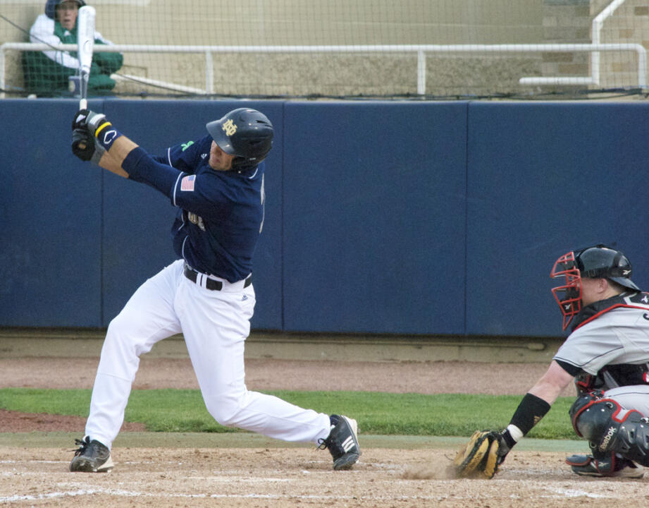 Sophomore 3B Eric Jagielo drills BIG EAST-leading 13th home run in defeat Saturday.